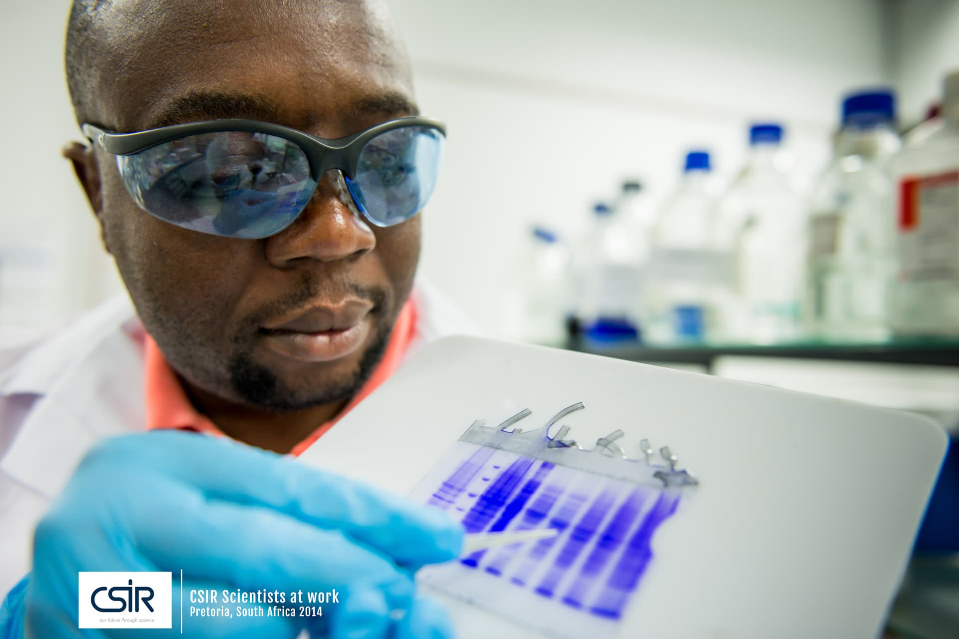 Black Scientist with glasses at work