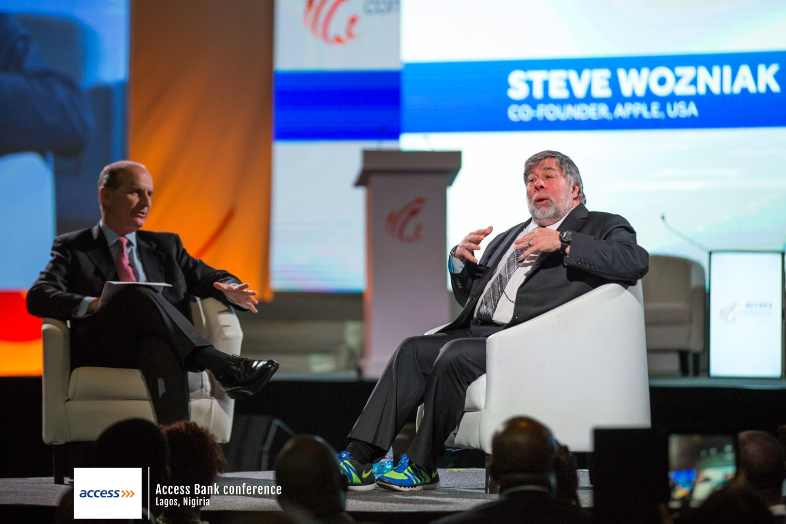 Steve Wozniak at a conference interview