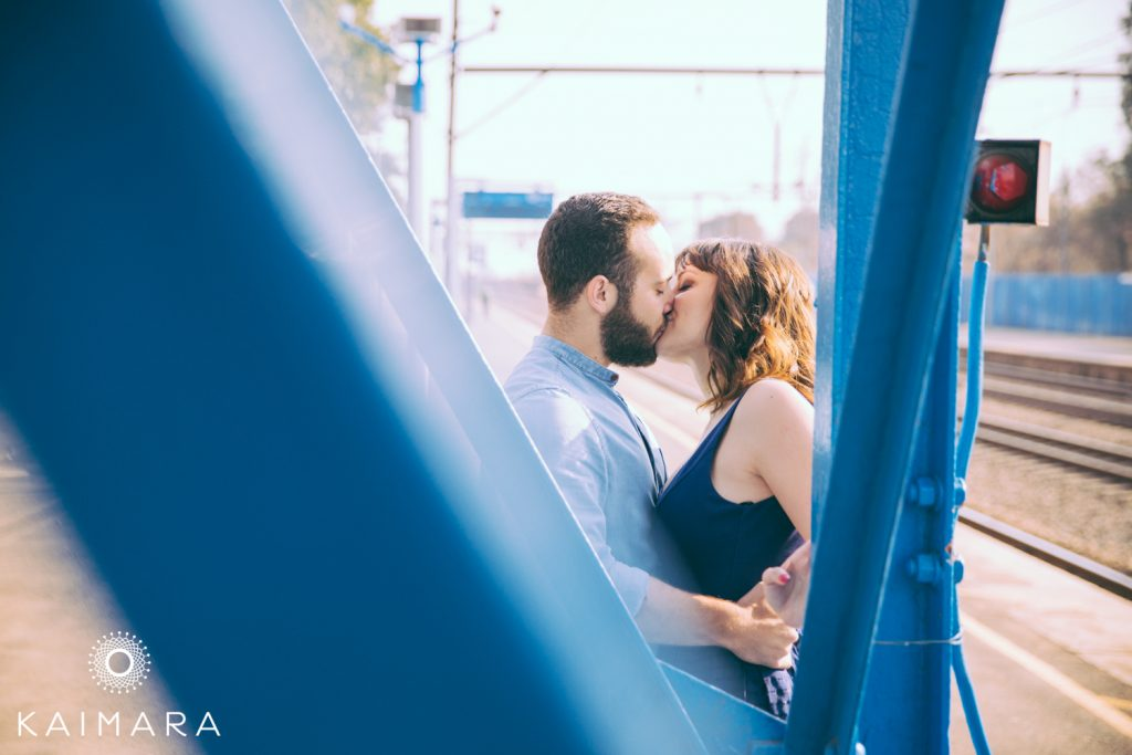 Engagement Photography of a Couple at the Railway Cafe