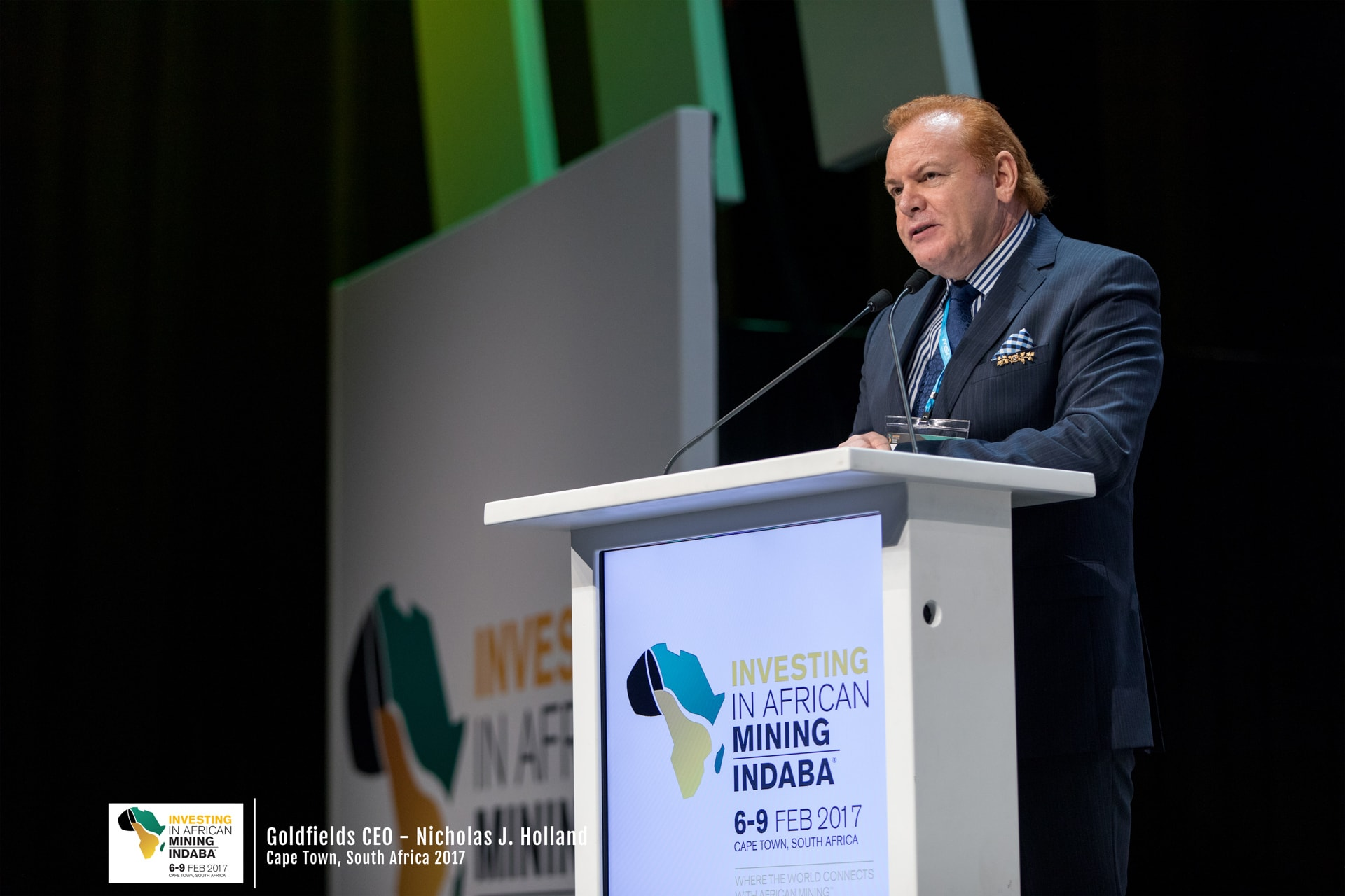 Event Photo of Nicholas J Holland at the Mining Indaba